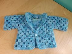 ▶ Crochet Baby Sweater Part 1 of 2 - YouTube