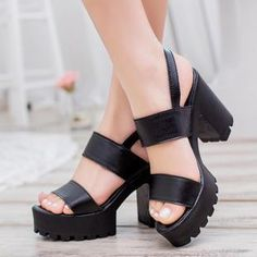 Ankle-Strap Chunky Heel Sandals from #YesStyle <3 BAYO YesStyle.com