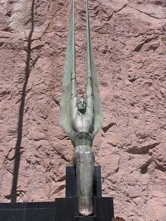 The winged bronzes of the Hoover Dam