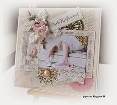 pipserier: Endnu et Konfirmationskort.. Die Cut Cards, Greeting Cards Handmade, Communion, Christening, Wedding Cards, Scrapbooking, Frame, Confirmation, Canvases