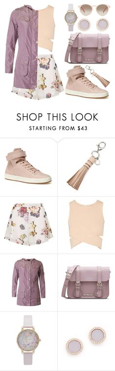 """Spring in My Step"" by meaganmuffins ❤ liked on Polyvore featuring Lacoste, Rebecca Minkoff, Oh My Love, Jonathan Simkhai, Barbour, Dr. Martens, Olivia Burton, Michael Kors, GlassesUSA and hightops"