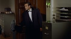 "Bond arrives at the office in ""Dr. No."""
