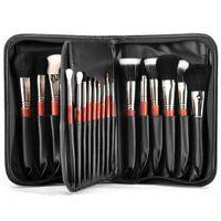 2013 29pcs de calidad de gama alta / lot Cabra y Sable cabello de lujo Profesional Dresser pinceles de maquillaje Set de maquillaje Caso Envío Gratis