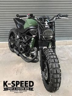 Have a look at a number of my well liked builds - modified scrambler designs like Motorcycle Workshop, Motorcycle Tires, Moto Bike, Cb400 Cafe Racer, Yamaha Cafe Racer, Ducati Scrambler Sixty2, Scrambler Motorcycle, Cool Motorcycles, Triumph Motorcycles