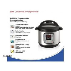Programmable Pressure Cooker 7-in-1 Stainless Steel 6-Quart/1000W ElectricNew #InstantPot #programmablepressurecooker