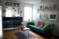 House Tour: A Colorful, Thrifty Toronto Home | Apartment Therapy