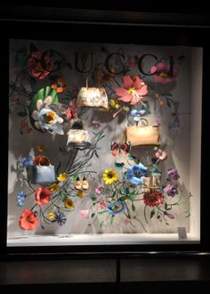 Spring window display at Gucci.