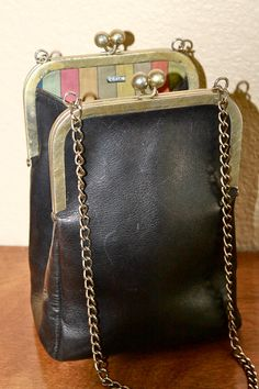 1960s Coach Bonnie Cashin double kiss lock swing bag