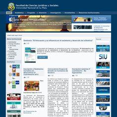 Nuestros orígenes: Facultad de Ciencias Jurídicas y Sociales de la Universidad Nacional de La Plata.