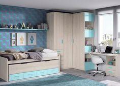 Kids Bed Design, Sofa Bed Design, Boys Room Design, Kids Bedroom Designs, Room Design Bedroom, Small Room Design, Bedroom Colors, Baby Boy Room Decor, Teen Room Decor