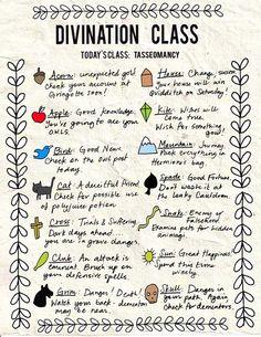 Divination Class.  Today's class: Tasseomancy
