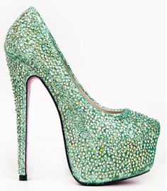 Rock his Shamrock and shake up his Shillelagh in these platform pumps that keep you from getting pinched on St. Patrick's Day!    http://latestshoetrends.com/IrishBling