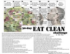 My newest Challenge for August! 30-Day Eat Clean Challenge  Visit and follow us at www.facebook.com/jodi.higgs.56
