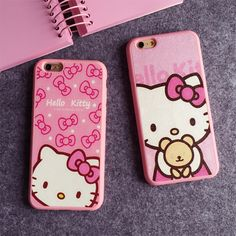 Cheap case for iphone, Buy Quality phone cases directly from China case me Suppliers: Cartoon Hello kitty Silk TPU soft pink color frame case For iphone 7 6 Plus 5 SE phone case back cover For iphone 8 Pink Iphone, Iphone Se, 5s Cases, Phone Cases, Hello Kitty Shop, Hello Kitty Merchandise, Soft Pink Color, Star Wars Toys, Princesas Disney