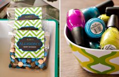 record baby shower favor