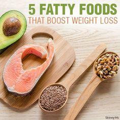 5 Fatty Foods That Boost Weight Loss #weightloss #healthyfats