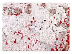 Red Painting, 2009 Mixed media collage on canvas 101.75 x 143.5 inches 258.4 x 364.5 cm