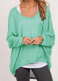 Green Knitting Wool Long Sleeve Sweater with cheap wholesale price, buy Green Knitting Wool Long Sleeve Sweater at rotita.com !