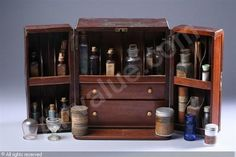 TRAVELLING APOTHECARY BOX sold by Sloans & Kenyon, Chevy Chase, on Sunday, April 26, 2009