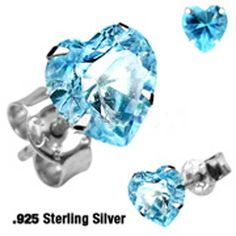That magical color of an early evening summer sky just as the stars just begin to show is captured here, in our beautiful Twilight Sky stud earrings. Set in hypoallergenic, polished sterling silver, the pretty blue cubic zirconias look as nice with jeans as they do dressed up. A great gift idea t...