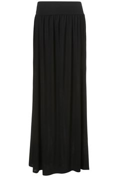 Comfy and not too expensive! ~ Fold over waistband maxi skirt from Topshop