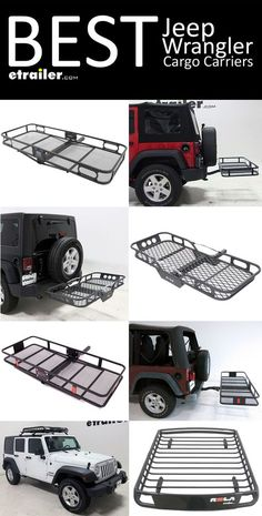 Here is the complete list of the best Cargo Carriers for your Jeep Wrangler! Find the right roof mounted cargo basket or hitch mounted cargo carrier so you can carry alll of your gear on trips and outdoor adventures!