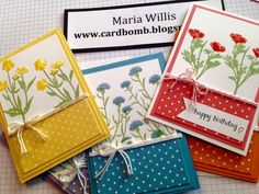 Cardbomb: Wild About Flowers Gift Set Maria Willis www.cardbomb.blogspot.com Stampin' Up!