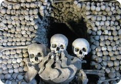 Church of Bones containing 40,000 to 70,000 human bones