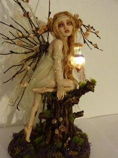 SHADOWSCULPT LIGHT UP OOAK (ONE OF A KIND ) FAIRY SCULPTURE CUSTOM MADE ART DOLL - this order includes lighting , this can be a lamp or tiny fairy lights  This listing is for a buy it now commission of your choice ,  PLEASE NOTE YOU WILL NOT RECIEVE THE FAIRIES IN THE PICTURE , THEY ARE ALL SOLD AND ARE JUST EXAMPLES OF WORK , YOU CAN ORDER SIMILAR. these are hand made to order , each one is different and no molds are ever used or taken from the sculpts .sculpture is made from polymer clay…