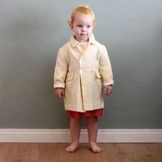 50's sz 2/3 Child's Cream Double Breasted Winter by flourclothing, $30.00