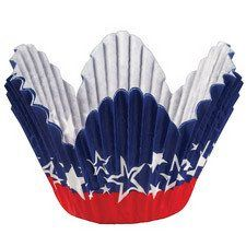 Patriotic Themed Petal Baking Cups