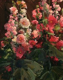 Welcome to Greenhouse Gallery of Fine Art Kathryn Stats: Classical Realism, Paintings I Love, Floral Paintings, Southwest Art, Garden Painting, Hollyhock, Botanical Art, Flower Art, Life Flower