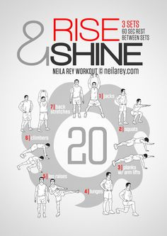 Rise And Shine Workout ***THANK YOU FOR SHARING***  Follow or Friend me I'm always posting awesome stuff: http://www.facebook.com/tennie.keirn  Join Our Group for great recipes and diy's: www.facebook.com/groups/naturalweightloss1