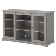 LIATORP Sideboard - IKEA (could cover the glass panels with fabric or pattern to make this unique... ? @Daryl Romkey
