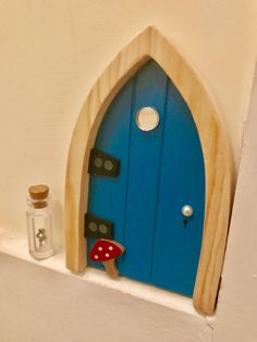Inviting Magic Into Our Home With The Irish Fairy Door Company & Irish Fairy Door Yellow Arched | Grandkids | Pinterest