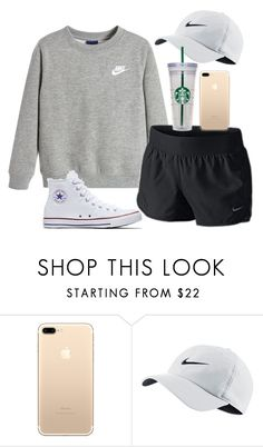 """""""nikeeeee"""" by ellienoonan ❤ liked on Polyvore featuring NIKE, Converse and WALL"""