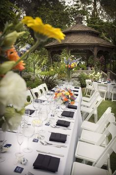 Outdoor Reception at The San Diego Botanical Gardens