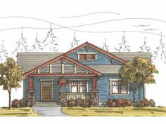 Craftsman House Plan with 1833 Square Feet and 3 Bedrooms(s) from Dream Home Source | House Plan Code DHSW67246