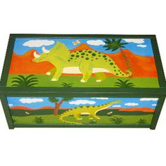 Personalized Dinosaur Toy Box / Children's / by WithHugsandKisses, $129.99