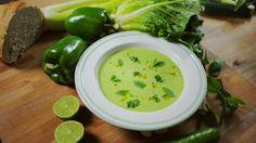 A Tuti Üdítő - Zöld Gazpacho - Receptexpressz Naan, A 17, Palak Paneer, Cantaloupe, Food Porn, Fruit, Ethnic Recipes, Soups, Lasagna