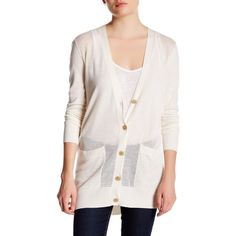 ATM Anthony Thomas Melillo Pointelle Knit Silk Blend Cardigan ($89) ❤ liked on Polyvore featuring tops, cardigans, ivory, ivory cardigan, white long sleeve top, long sleeve tops, white cardigan and long sleeve cardigan