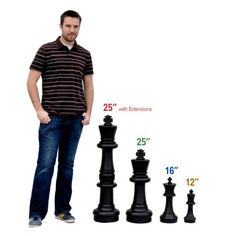 "16"" Giant Chess Set 