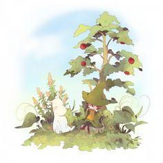 Moomin and Snufkin by Vergissmeinnicht