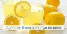 Beneficios del agua con limón en ayunas para perder peso