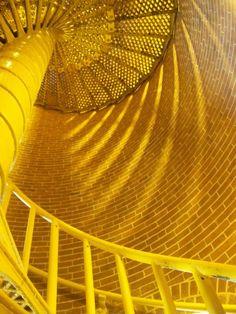 The interior of Barnegat Lighthouse; Long Beach Island, NJ