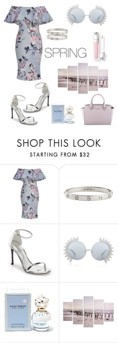 """""""Untitled #34"""" by queenofstyle96 ❤ liked on Polyvore featuring Cartier, Stuart Weitzman, Linda Farrow, Marc Jacobs, Graham & Brown, MICHAEL Michael Kors and offshoulderdress"""