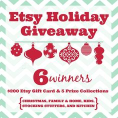 I love gift giving and I LOVE giving handmade gifts. Since discovering Etsy I love giving handmade gifts that others have made too! My gift list for Christmas is full of gifts that I will make or buy handmade from others… I'm excited today to offer you a chance to give handmade this Christmas. I …