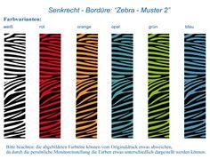 Senkrechtbordüre: Zebra-Steifen 2 • Mein Bordürenladen - DaWanda