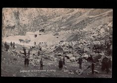 CHEDDAR CLIFFS LANDSLIP DISASTER C. H. Collard REAL PHOTO POSTCARD 1905