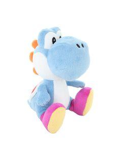 "Super Mario Bros. Blue Yoshi 6"" Plush   Hot Topic"